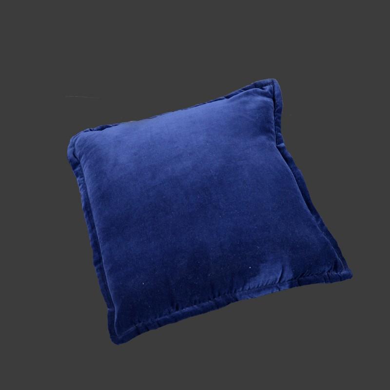 Kussen koningsblauw fluweel fraai - Kussen bont grijs ...